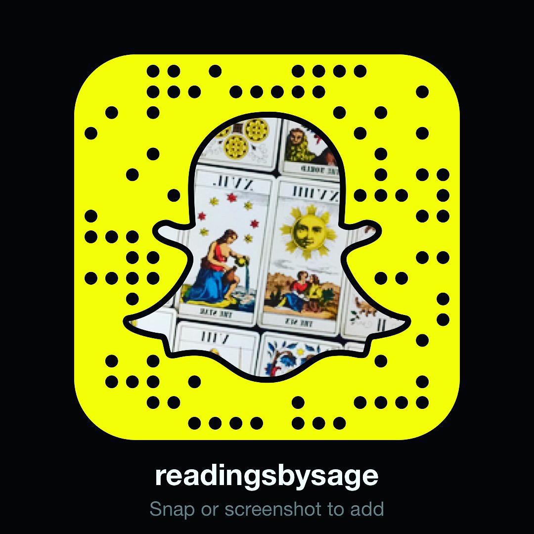 ReadingsBySage Snapcode Snapcodes Snapchat